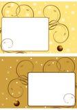 Twee Kerstmisframes 3 Stock Afbeelding