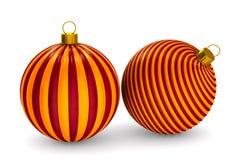 Twee Kerstmisspeelgoed op witte achtergrond Geïsoleerde 3d illustratie Vector Illustratie