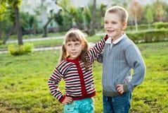 Twee kinderen stock foto