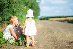 Twee kinderen Royalty-vrije Stock Foto's