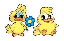 Twee kippen vector illustratie