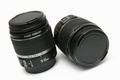 Twee IS klassieke lens 18-55 Royalty-vrije Stock Afbeeldingen