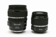 Twee IS klassieke lens 18-55 en 17-85 met Royalty-vrije Stock Afbeelding