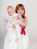 Twee klein zustersportret Royalty-vrije Stock Afbeelding