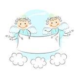 Twee kleine engelen royalty-vrije illustratie