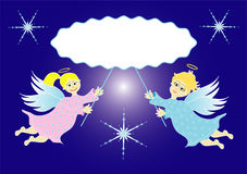 Twee kleine engelen Stock Fotografie