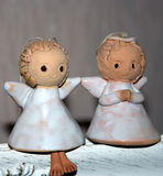 Twee kleine engelen Royalty-vrije Stock Afbeeldingen