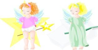 Twee kleine feeën Stock Afbeelding