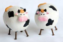 Twee kleine koeien Royalty-vrije Stock Afbeeldingen
