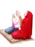 Twee kleine moslimmeisjes Stock Foto's