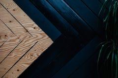 Twee kleuren houten achtergrond stock foto's