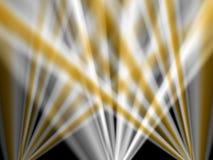 Twee kleuren lichtstralen Royalty-vrije Stock Fotografie