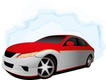 Twee kleuren snelle auto Royalty-vrije Stock Foto