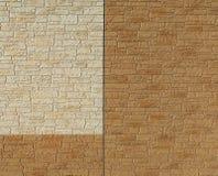 Twee kleurenbakstenen muur stock foto