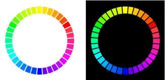 Twee kleurencirkels royalty-vrije illustratie