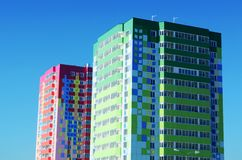 Twee kleurrijke huizen Royalty-vrije Stock Afbeelding