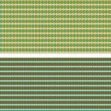 Twee kleurrijke naadloze patronen, het breien imitatie Stock Afbeeldingen