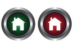 Twee knopen met het beeld van het huis vector illustratie