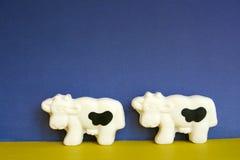 Twee koeien Royalty-vrije Stock Fotografie
