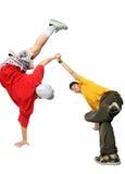Twee Koele heup-hop jonge mensen Stock Afbeelding