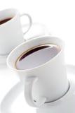 Twee koffiekoppen Stock Foto