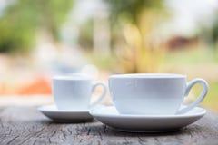 Twee koffiekoppen Royalty-vrije Stock Afbeelding