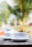Twee koffiekoppen Stock Afbeeldingen