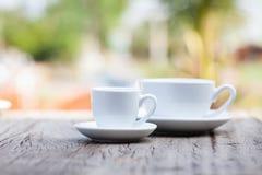 Twee koffiekoppen Royalty-vrije Stock Foto's