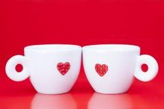 Twee koffiekoppen Royalty-vrije Stock Foto
