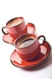 Twee koffiekoppen Stock Fotografie