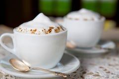 Romantische koffie bij koffie Stock Afbeelding