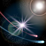 Twee kometen Stock Foto