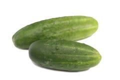 Twee komkommers Royalty-vrije Stock Foto's