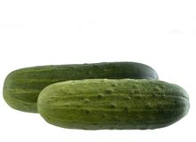 Twee komkommers stock foto's