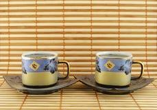 Twee kop theeën Royalty-vrije Stock Afbeelding