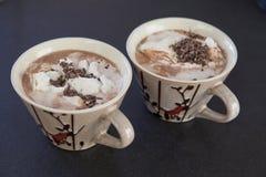 Twee kop van cacao Royalty-vrije Stock Foto's