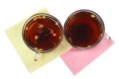 Twee koppen met thee Royalty-vrije Stock Foto