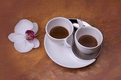 Twee koppen van aromatische koffie Royalty-vrije Stock Fotografie