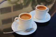 Twee koppen van koffie Royalty-vrije Stock Foto