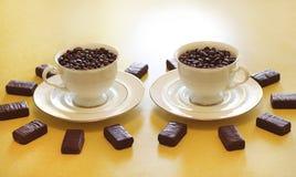 Twee koppen van koffie Royalty-vrije Stock Fotografie