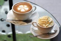 Twee koppen van koffie Stock Afbeelding