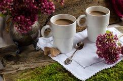 Twee koppen van koffie Royalty-vrije Stock Afbeelding