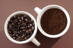 Twee koppen van koffie Royalty-vrije Stock Afbeeldingen