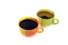 Twee koppen van verschillende thee Royalty-vrije Stock Foto