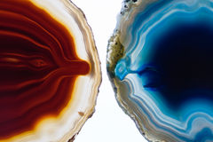 Twee kristalplakken Stock Foto