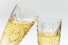 Twee kristalwijnglazen Royalty-vrije Stock Foto