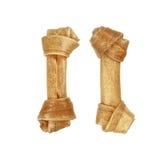 twee kunstmatige die beenderen voor dier op wit wordt geïsoleerd Royalty-vrije Stock Afbeelding