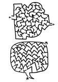 Twee labyrinten Royalty-vrije Stock Afbeeldingen