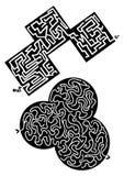 Twee labyrinten Stock Afbeelding