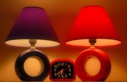 Twee lampen stock afbeelding